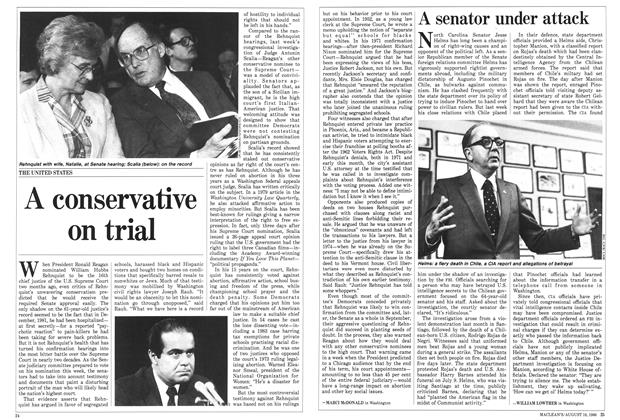Article Preview: A conservative on trial, August 1986 | Maclean's