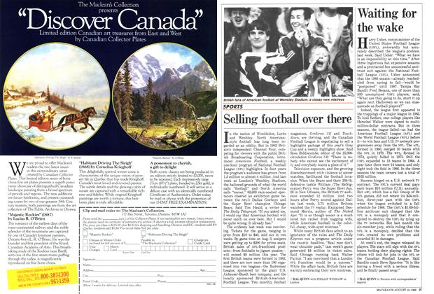 Article Preview: Selling football over there, August 1986 | Maclean's