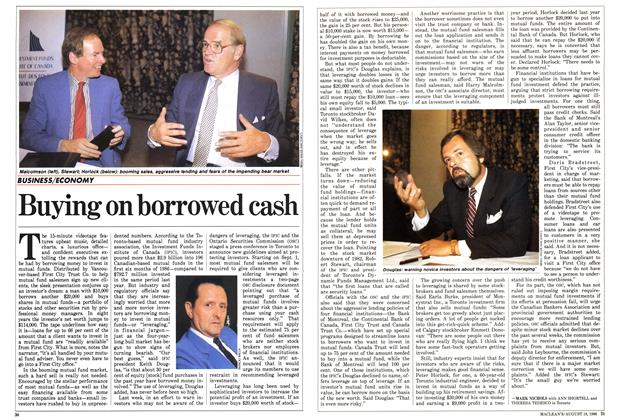 Article Preview: Buying on borrowed cash, August 1986 | Maclean's