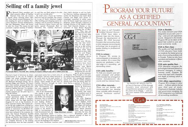 Article Preview: Selling off a family jewel, August 1986 | Maclean's