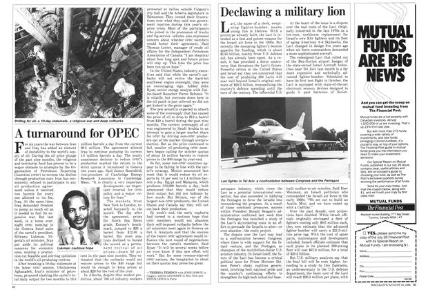 Article Preview: Declawing a military lion, August 1986 | Maclean's