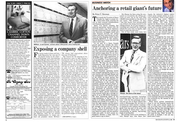 Article Preview: Exposing a company shell, August 1986 | Maclean's