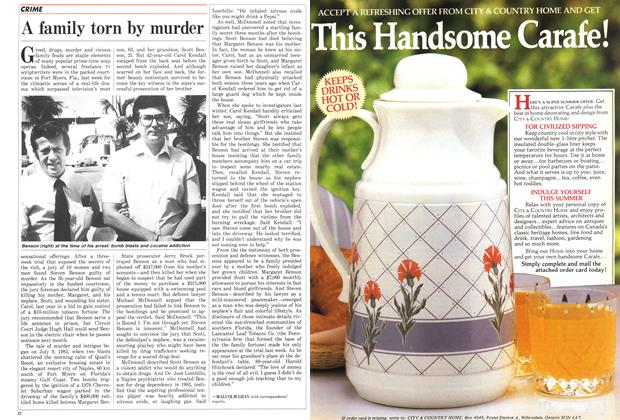 Article Preview: A family torn by murder, August 1986 | Maclean's