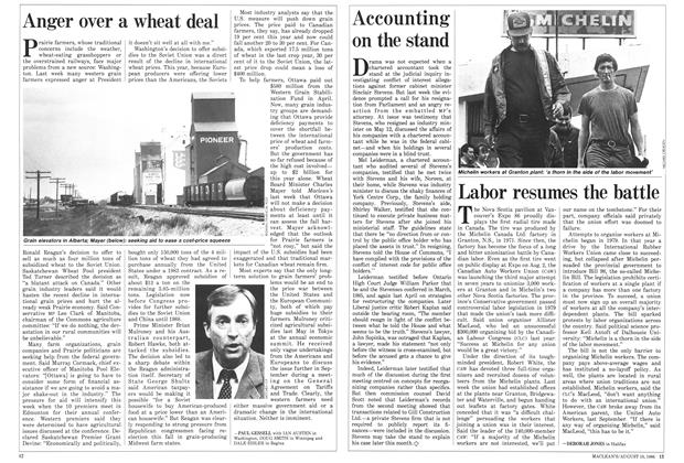 Article Preview: Anger over a wheat deal, August 1986 | Maclean's