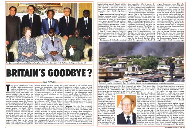 Article Preview: BRITAIN'S GOODBYE?, August 1986 | Maclean's