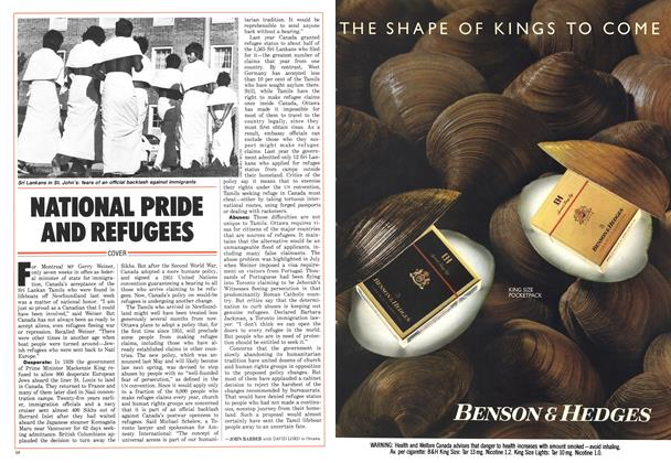 Article Preview: NATIONAL PRIDE AND REFUGEES, August 1986 | Maclean's