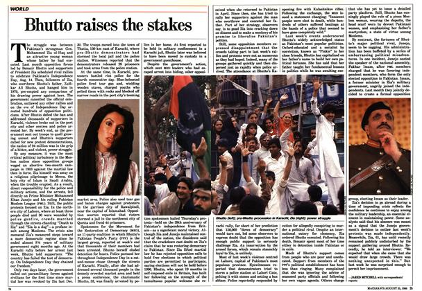 Article Preview: Bhutto raises the stakes, August 1986 | Maclean's
