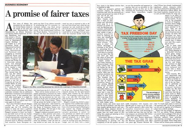 Article Preview: A promise of fairer taxes, August 1986 | Maclean's