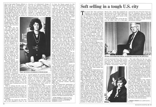 Article Preview: Soft selling in a tough U.S. city, August 1986 | Maclean's