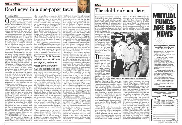 Article Preview: The children's murders, August 1986 | Maclean's