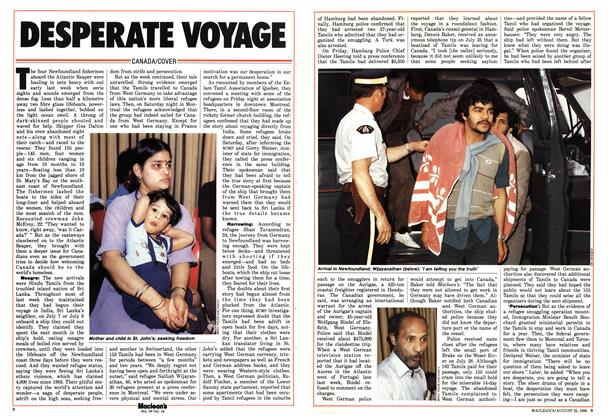 Article Preview: DESPERATE VOYAGE, August 1986 | Maclean's