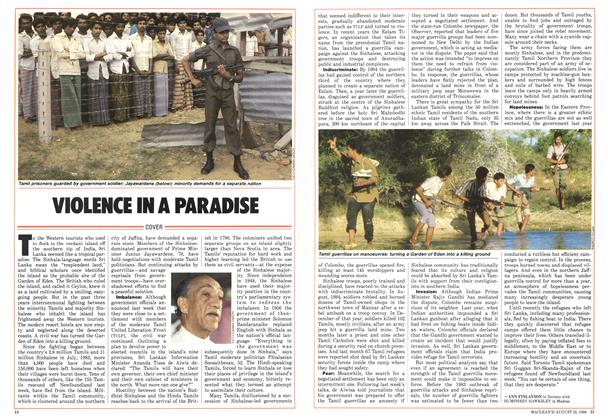 Article Preview: VIOLENCE IN A PARADISE, August 1986 | Maclean's