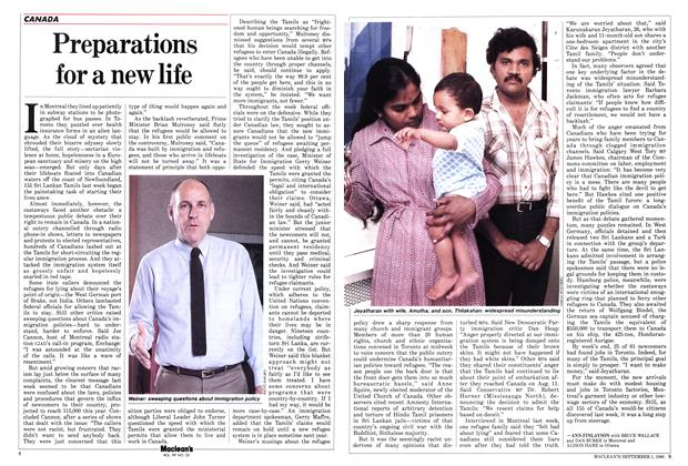 Article Preview: Preparations for a new life, September 1986 | Maclean's