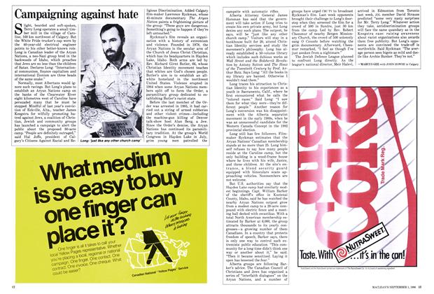 Article Preview: Campaigning against hate, September 1986 | Maclean's