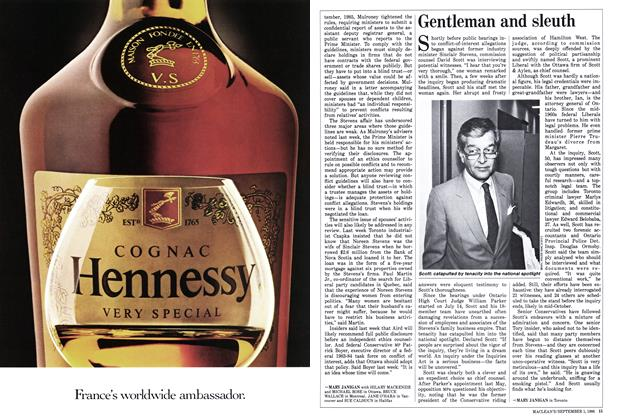 Article Preview: Gentleman and sleuth, September 1986 | Maclean's