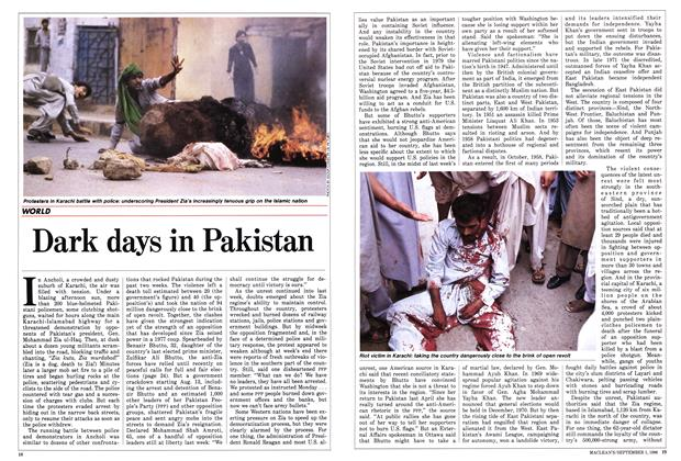 Article Preview: Dark days in Pakistan, September 1986 | Maclean's