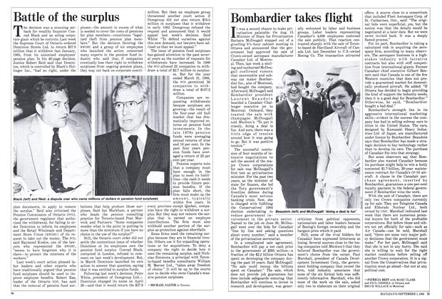 Article Preview: Bombardier takes flight, September 1986 | Maclean's