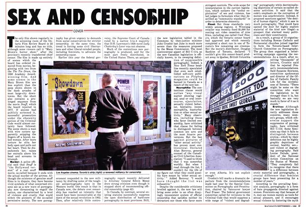 Article Preview: SEX AND CENSORSHIP, September 1986 | Maclean's