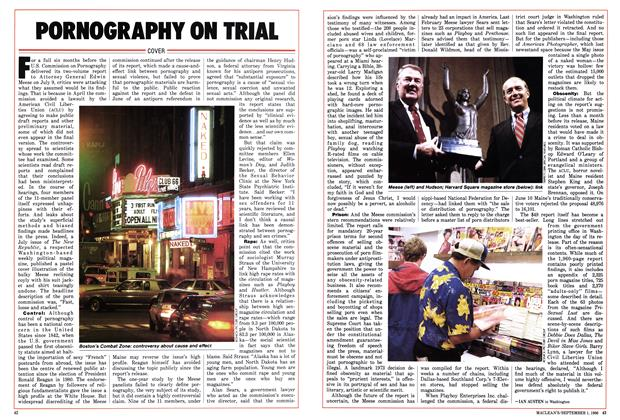 Article Preview: PORNOGRAPHY ON TRIAL, September 1986 | Maclean's