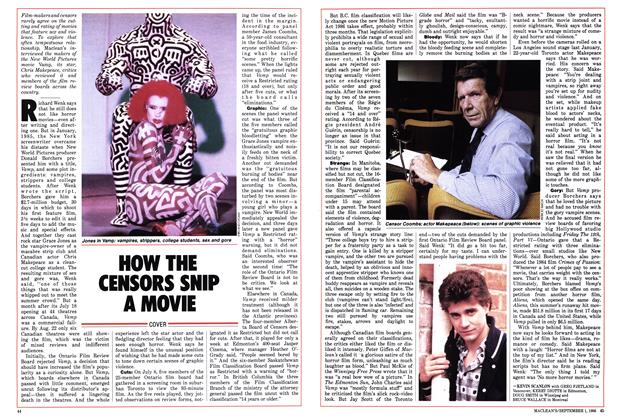 Article Preview: HOW THE CENSORS SNIP A MOVIE, September 1986 | Maclean's