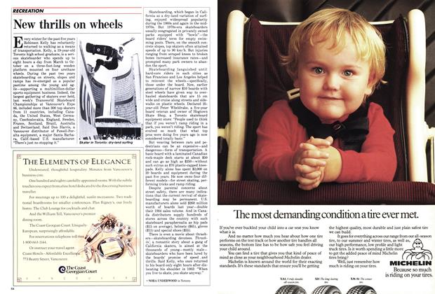 Article Preview: New thrills on wheels, September 1986 | Maclean's