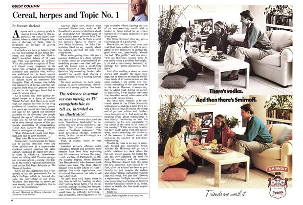 Article Preview: Cereal, herpes and Topic No. 1, September 1986 | Maclean's