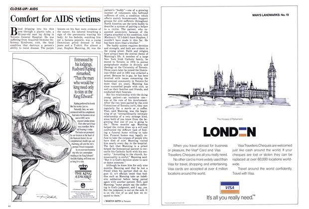 Article Preview: Comfort for AIDS victims, September 1986 | Maclean's