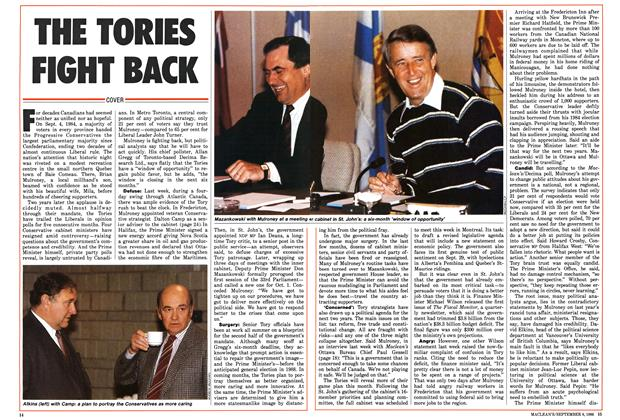 Article Preview: THE TORIES FIGHT RACK, September 1986 | Maclean's