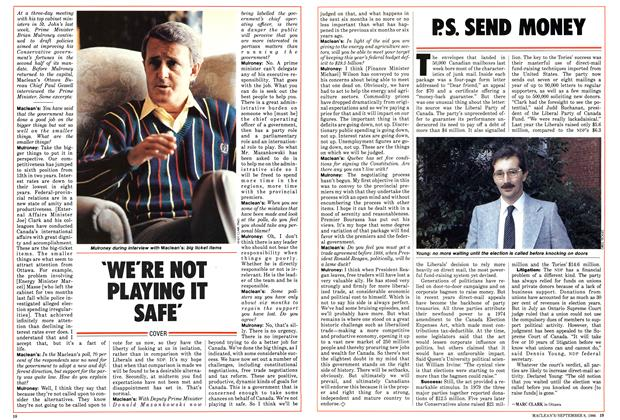 Article Preview: P.S. SEND MONEY, September 1986 | Maclean's