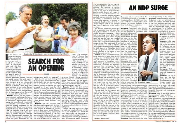 Article Preview: SEARCH FOR AN OPENING, September 1986 | Maclean's