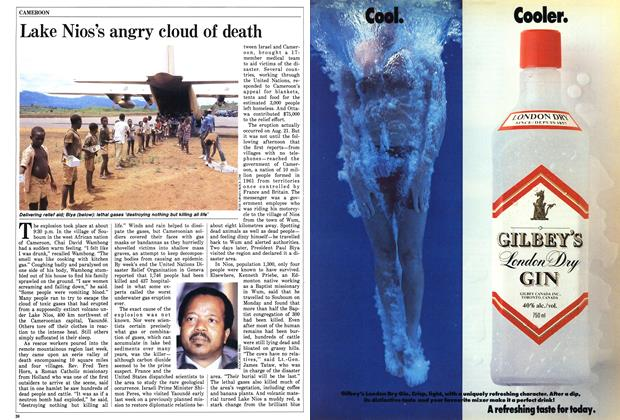 Article Preview: Lake Nios's angry cloud of death, September 1986 | Maclean's
