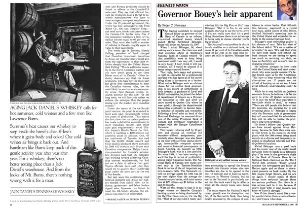 Article Preview: Governor Bouey's heir apparent, September 1986 | Maclean's