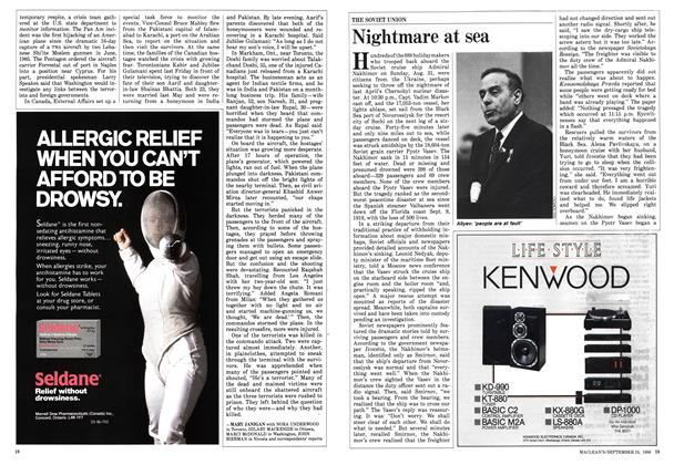 Article Preview: Nightmare at sea, September 1986 | Maclean's