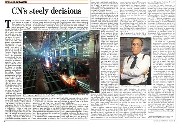 Article Preview: CN's steely decisions, September 1986 | Maclean's