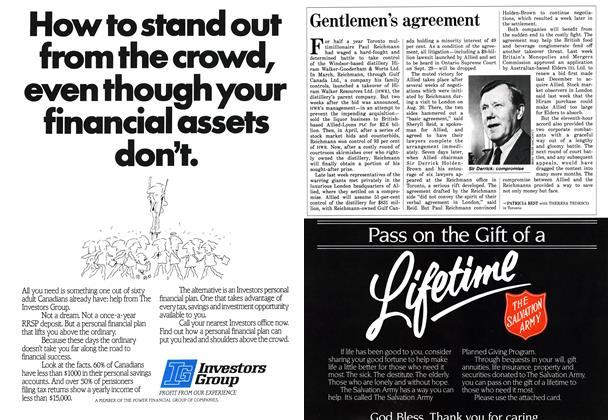 Article Preview: Gentlemen's agreement, September 1986 | Maclean's