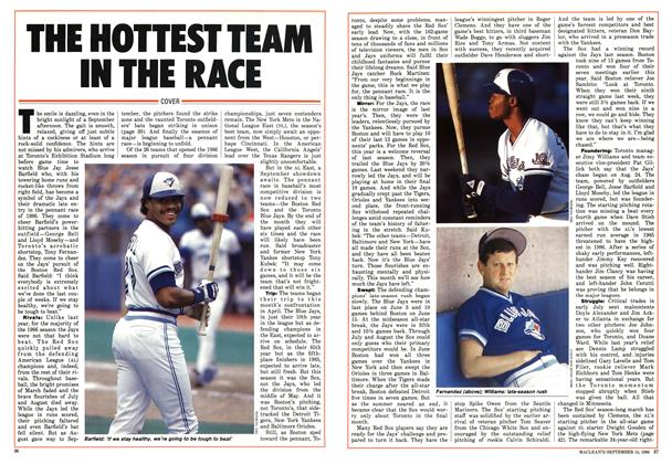 Article Preview: THE HOTTEST TEAM IN THE RACE, September 1986 | Maclean's