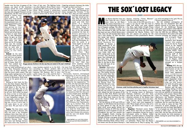 Article Preview: THE SOX'LOST LEGACY, September 1986 | Maclean's
