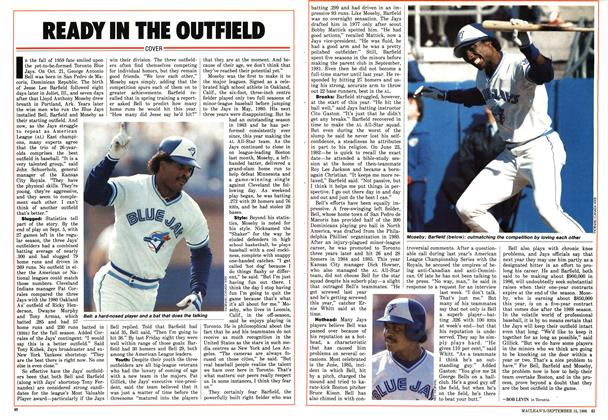 Article Preview: READY IN THE OUTFIELD, September 1986 | Maclean's