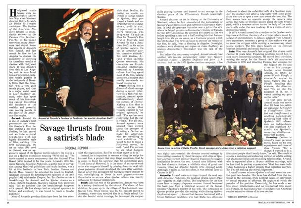 Article Preview: Savage thrusts from a satirist's blade, September 1986 | Maclean's