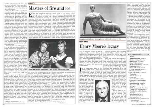 Article Preview: Masters of fire and ice, September 1986 | Maclean's