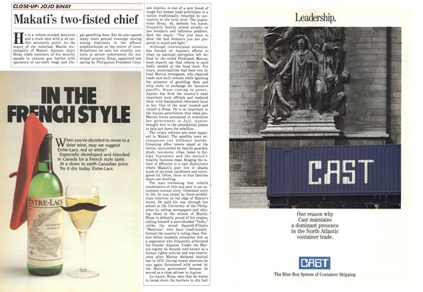 Article Preview: Makati's two-fisted chief, September 1986 | Maclean's