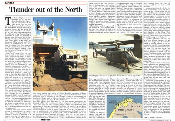 Article Preview: Thunder out of the North, September 1986 | Maclean's