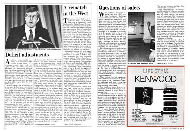 Article Preview: Questions of safety, September 1986 | Maclean's