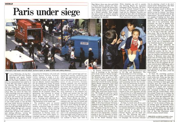 Article Preview: Paris under siege, September 1986 | Maclean's
