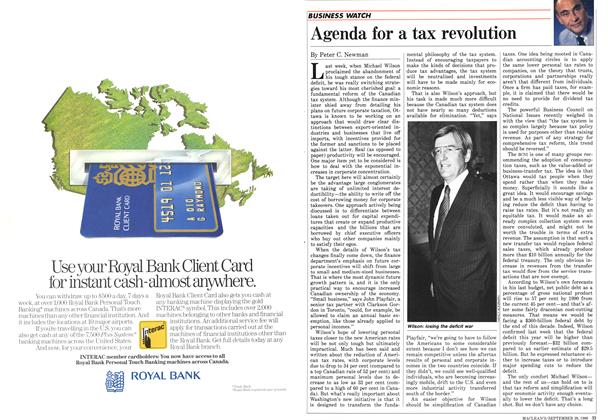 Article Preview: Agenda for a tax revolution, September 1986 | Maclean's