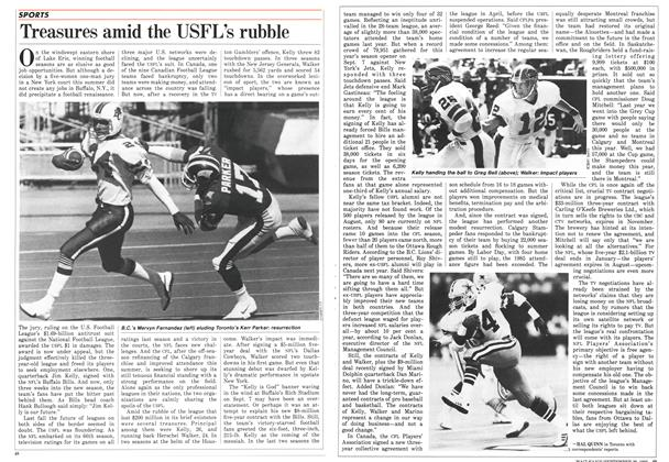 Article Preview: Treasures amid the USFL's rubble, September 1986 | Maclean's