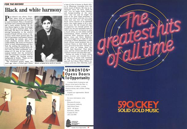 Article Preview: Black and white harmony, September 1986 | Maclean's