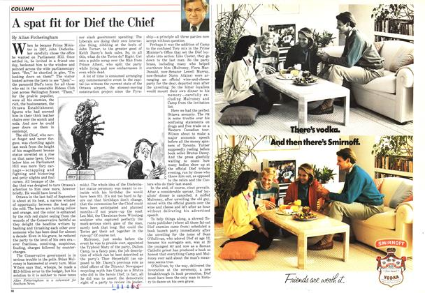 Article Preview: A spat fit for Dief the Chief, September 1986 | Maclean's