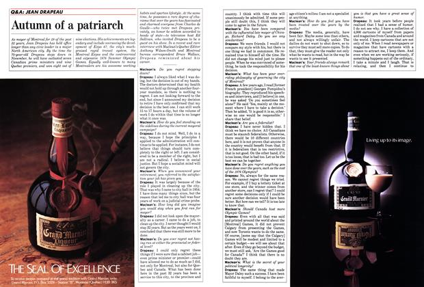 Article Preview: Autumn of a patriarch, October 1986 | Maclean's