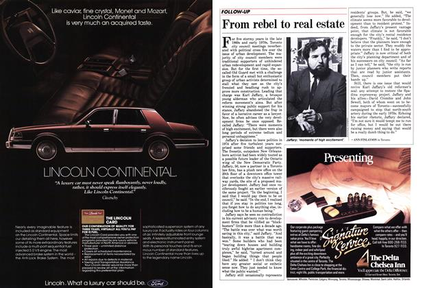 Article Preview: From rebel to real estate, October 1986 | Maclean's